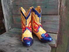 Kids Cowboy Boots...Leather...Hand by JJsBottega on Etsy, $39.00