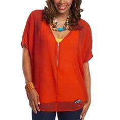 Meesh & Mia Denver Broncos Women's Aiko Top - Orange