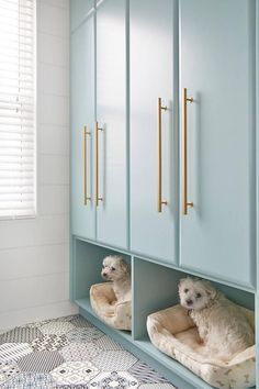 Or Give Your Dog a Place To Rest - 15 Mudroom Ideas We're Obsessed With - Southernliving. If your dog is waiting by the door for the kids to get home from school anyway, make it a comfortable space by adding a place for a dog bed or food and water bowls in the mudroom.