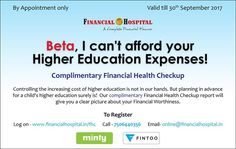 Don't take the risk of compromising on your child's future - step in for a FREE Financial Health Check-Up today! Book an appointment here:. Money Matters, Financial Planning, Higher Education, Appointments, Personal Finance, 30th, September, How To Plan, Future