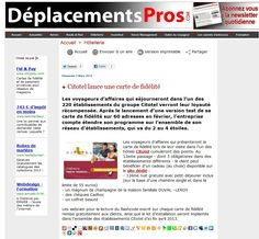 Déplacements Pros - 3 mars 2013   http://www.deplacementspros.com/Citotel-lance-une-carte-de-fidelite_a20114.html
