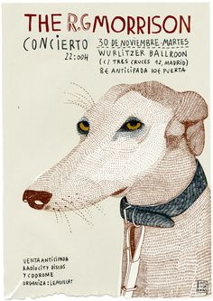 Carla Fuentes -- dog, greyhound or whippet Greyhound Art, Design Graphique, Graphic Design Posters, Grafik Design, Illustrations And Posters, Children's Book Illustration, Ink Art, Cover Art, Collages