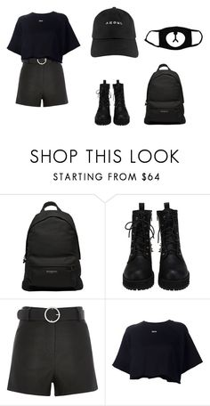 Black by madummachado on Polyvore featuring moda, Off-White, Black, Balenciaga and polyvorefashion