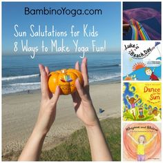 I recently read Yoga Journal's article, Wake Up + Revive with 3 Sun Salutation Practices . It shows Sun Salutations from the Kundalini, Yin, and Ashtanga perspective. I love how one flow can be…MoreMore Yoga For Kids, Exercise For Kids, Yoga Sun Salutation, Bedtime Yoga, Sleep Yoga, Childrens Yoga, Yoga Books, Yoga Lessons, Mindfulness For Kids
