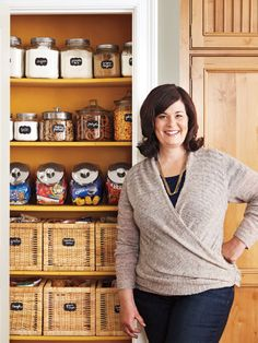 Sure, organizing anything makes it easier to find things, but the bonus pay-off is the sheer pleasure you get from seeing things lined up in rows. Check out blogger Susan Haskins's ideas for organizing a kitchen pantry.