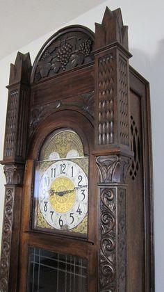 Antique Grandfather Clock by gbtrains Décor Antique, Antique Clocks, Vintage Clocks, George Nelson, Antique Grandfather Clock, Tick Tock Clock, Classic Clocks, Father Time, Mantel Clocks