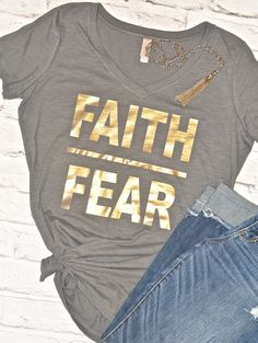 Faith over Fear, Mommy tee, Mom Tops, Faith, Mom tee, Women's tees, Women's t-shirts, Religious Tee, IVF Gift, Christmas Gift for Mom by Little17Shop on Etsy www.etsy.com/...