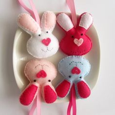 These loveable felt bunnies are perfect for decorating the nurseries of bunny loving little ones!