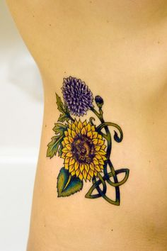 Beautiful sunflower and ... tattoo