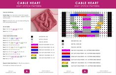 How to Knit a Cable Heart | Free Knitting Pattern   Video Tutorial by Studio Knit