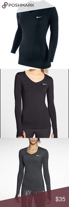 Black Nike Dri-Fit Pro Long-Sleeve Never worn. NWOT. Size XS but could fit XXS Nike Tops Tees - Long Sleeve