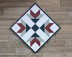 Sew Quilt DIY Barn Quilt from Start to Finish - Are you familiar with barn quilts? I had never heard of them until they started popping up on barns locally. Check out our DIY project. Barn Quilt Designs, Barn Quilt Patterns, Quilting Designs, Quilt Square Patterns, Quilting Ideas, Texas Star, Star Quilts, Quilt Blocks, Wood Blocks