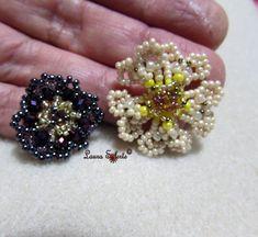 Tutorial di perline e cristalli : modulo fiore Primula