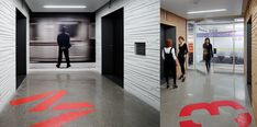 Thales Rail Signaling Solutions Offices - Oversized Graphics in Flooring to Signal Neighborhoods