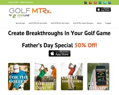 NEW Zeroline Golf website - 50% OFF Golf MTRx through June 16, 2013!  Golf MTRx (Metrics) is the first & only mobile technology that measures the movement of a golfer's pelvis through a swing and provides real-time feedback and immediate solutions to develop a more efficient and powerful swing. Create a breakthrough every time you practice and learn the metrics of your best swing so you can repeat it every time. www.zerolinegolf.com
