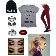 Crazy Gal by loverever on Polyvore featuring polyvore, fashion, style, Varley, Eva Fehren, Lime Crime and clothing