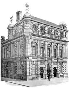 Lloyd's Registry of Shipping, Fenchurch Street, London E.C., by Thomas E. Colcutt