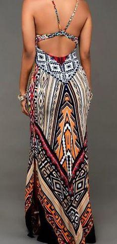 We love theTribal Print Slit Long Dress.Enjoy Free Shiping now!!It's just a amazing dress.Pick it up at Romoti.com