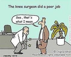 result for funny images about knee surgery Knee Operation, Surgery Humor, Knee Replacement Surgery, Joint Replacement, Knee Surgery, Cartoon Jokes, Cartoons, Self Massage, Get Well Cards