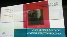 Cartel de la Expo de Josef Albers en la Fundación Juan March. :Medios Mínimos, Efecto Máximo. #Cartel #Affiche #Arterecord 2014 https://twitter.com/arterecord