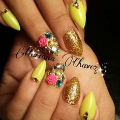 Diamond Nails Picsart Marianachavezuñas Greennails Nails2inspire Lovenails Cutenails Culiacan Stilettos