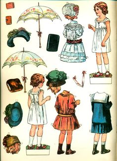 Antique Paper Dolls of the Edwardian Era, via Etsy.