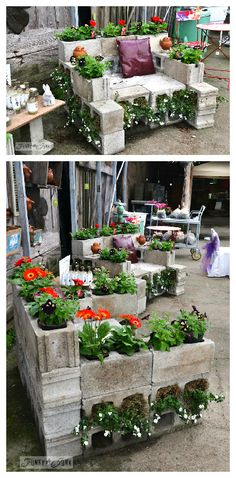 Cinder Block Bench / Planter