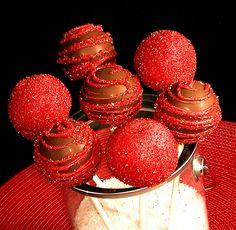 Chocolate Cherry Sugar Cake Pops by IrishMomLuvs2Bake, via Flickr