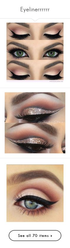 """Eyelinerrrrrr"" by drummergirl95 ❤ liked on Polyvore featuring beauty products, makeup, eye makeup, eyes, beauty, make, lip makeup, lipstick, eyeshadow and detalhes"