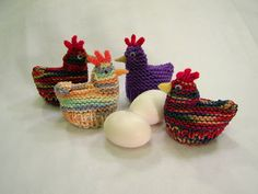 free chicken crochet patterns | Delights-Gems: Easter Egg Cozies