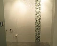 bubbles in shower? Master Bath Shower, Guest Bath, Shower Accent Tile, Shower Tile Designs, Backsplash, Door Handles, Bubbles, Vanity, Bathroom Ideas