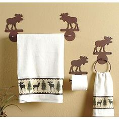 Moose Bath Hardware Set - 3 pcs