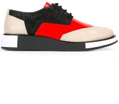 United Nude 'Geo Wing' Derby shoes Leather Shoes, Red Leather, Red Wing Shoes, Derby Shoes, Womens Flats, Geo, High Top Sneakers, Footwear, Nude