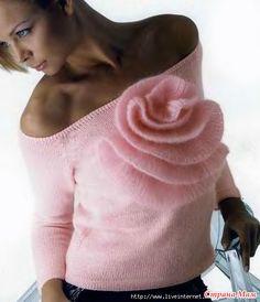 РАЗМЕР: 38  ВАМ ПОТРЕБУЕТСЯ: 250 г розовой пряжи MONDIAL BEST ANGORA (75% мериносовой шерсти. 25% ангоры. 156 м/50 г) 25 г розовой пряжи MONDIAL PRESTIgIO (80% мохера.
