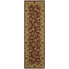 Nourison India House Rust Runner Rug