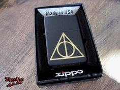 Deathly Hallows engraved Zippo by ZippoPro on Etsy, $26.95