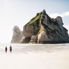 Just came back from the Pouakai Circuit here in Taranaki with tons of pictures :) This picture was taken in summer at the beautiful Wharariki Beach - Golden Bay.