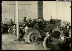 Kraftwagen-Werkstätte in der Cellulosefabrik Villach