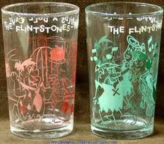 Flintstone Jelly Glasses