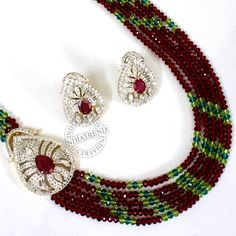 The gorgeous Necklace + Earrings by Indiatrend. Shop Now at WWW.INDIATRENDSHOP.COM
