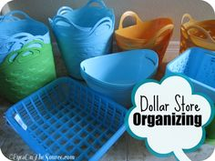Spring Cleaning! Piler or Filer? Organizing With Dollar Store Baskets!