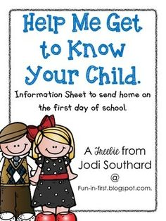 This general information sheets are perfect to send home to parents on the first day of school. This will allow you to get to know your students on a more personal level right away. Beginning Of The School Year, First Day Of School, Back To School, Primary Resources, Teacher Resources, Get To Know Me, Getting To Know You, Classroom Organisation, Classroom Ideas
