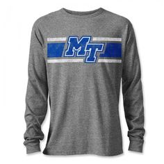This classic Victory Falls long sleeve tee is a great way to share school pride. This long sleeve shirt blends comfortable and durable fabrics with vintage-inspired style to create a great everyday look. #MTSU #blueraiders #textbookbrokers