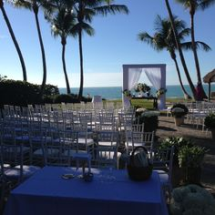 Beachfront Ceremony Site with fantastic weather that day.