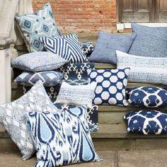 John Robshaw Primrose Indigo Decorative Pillow #laylagrayce
