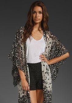 ShopStyle: Anna Sui RUNWAY Secret Garden Silk Kimono