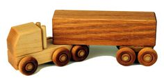 Wooden toy truck