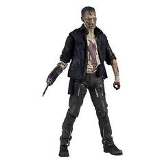 After being left for dead in Season 1, Merle Dixon, brother of Daryl, made his return as The Governor's left-hand man (he lost his right) in Season 3! After reuniting with his baby bother, Merle began searching for redemption, but instead met his demise. Daryl eventually finds his brother converted into a bloodied walker. This action-figure comes with approximately 22 points of articulation and a prosthetic arm with prison shiv.