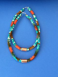 ONE Ankara Rope Necklace by SaloneStarr on Etsy https://www.etsy.com/listing/194734138/one-ankara-rope-necklace