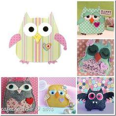 Owl Die cut Art, Sizzix Big Shot, Come ti trasformo una fustella. Shots Ideas, Owl Card, Owl Crafts, Punch Art, Big Shot, Diy Paper, Applique, Creations, Kids Rugs